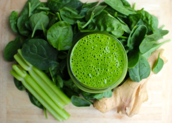 Ginger Goddess Green Smoothie (Vegan, Low-Glycemic, Anti-Inflammatory)