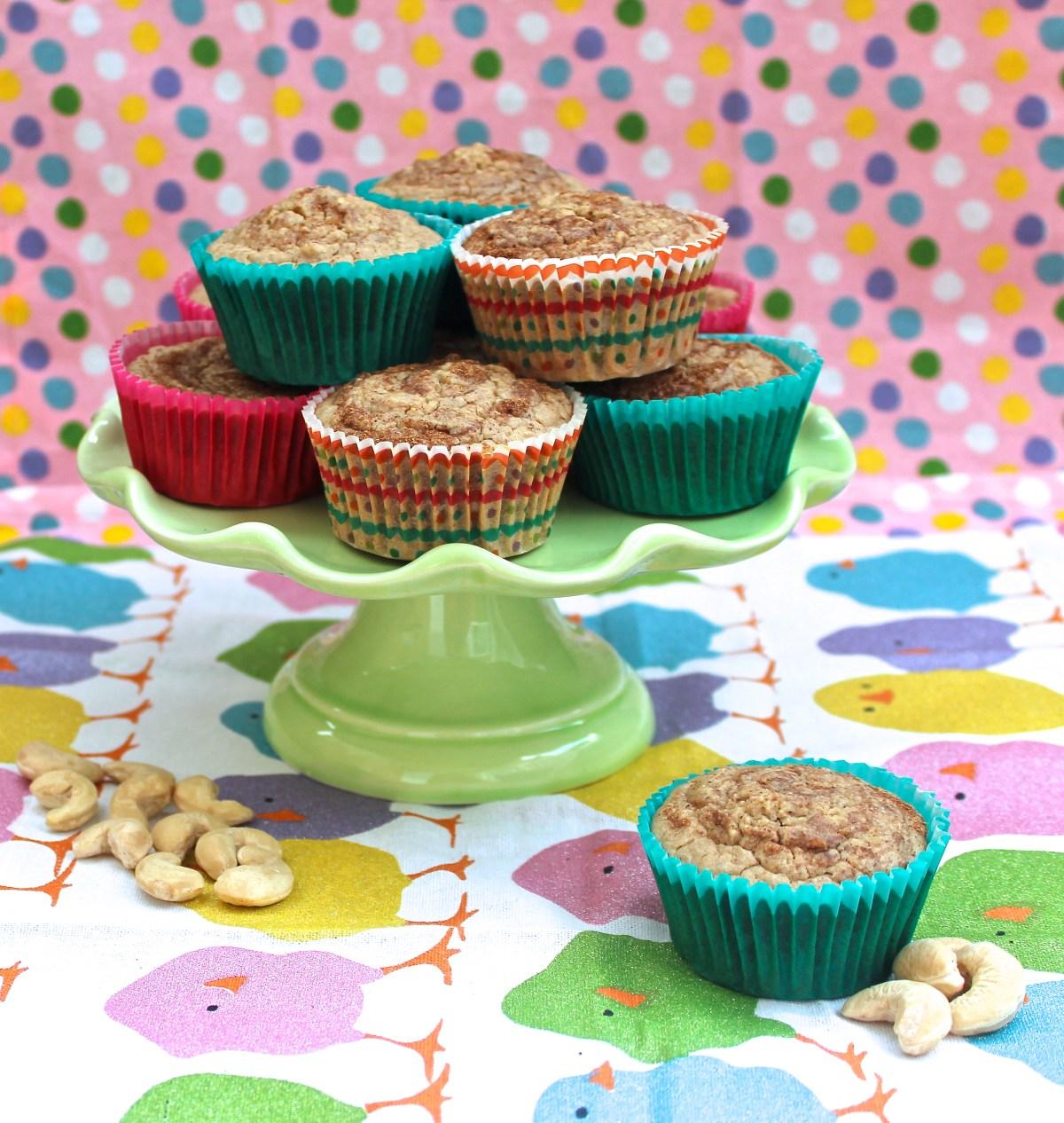 Cinnamon Cashew Blender Muffins (Low-GI)