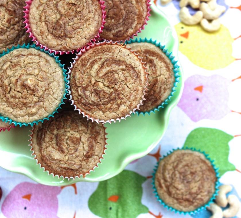 Cinnamon cashew blender muffins
