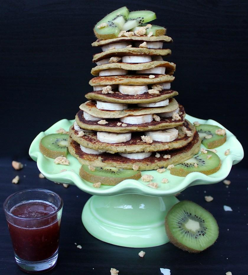 tropical vanilla protein pancakes phruitful dish