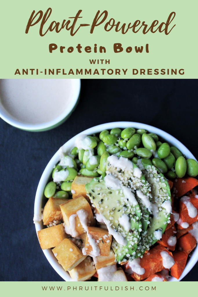 Plant-Powered Protein Bowl with Anti-Inflammatory Dressing