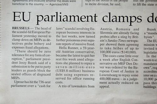 Bericht in Vietnamnews über die Korruptionsvorwürfe gegen die EU-Abgeordnete Hella Ranner (VP).