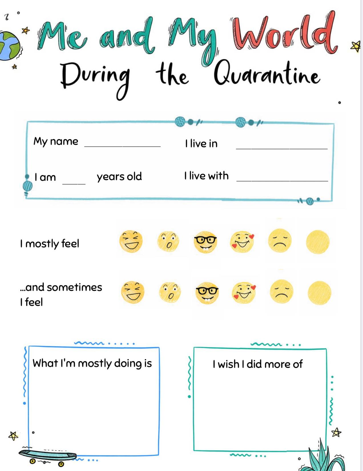 Wellbeing Activities Quarantine Time Capsule Amp Daily