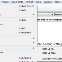 Scrivener Tips Pt. 4: Project Backups