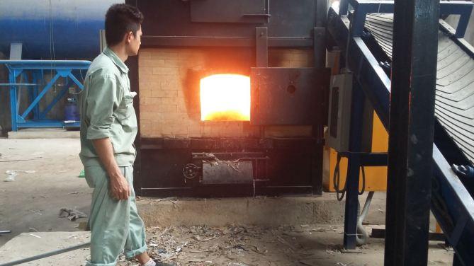 Nồi hơi đốt vải vụn cho ngành may mặc