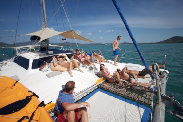 Sailing Deck in Thailand