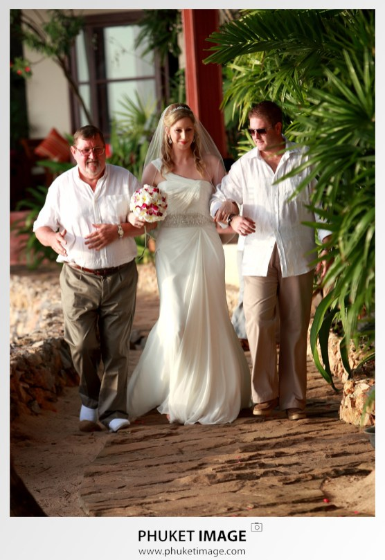 Rocky's Boutique Resort beach wedding photograph by Phuket Image Photography.