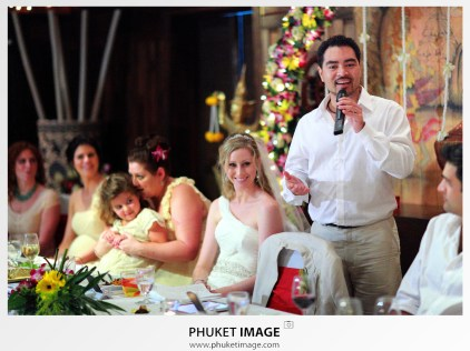 Romantic wedding ceremony in Krabi Province.