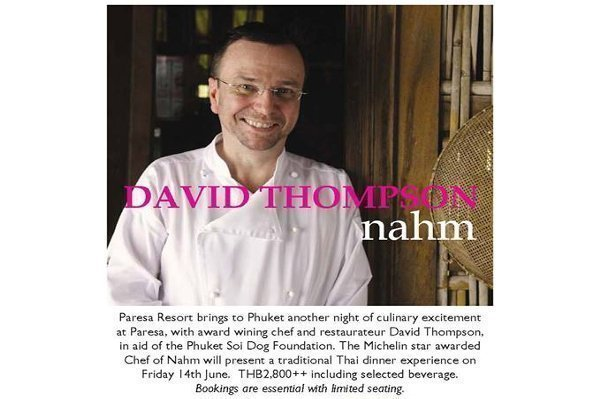 Michelin Star Chef to Present Charity Dinner at Paresa Phuket