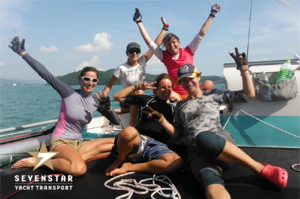 Phuket's first all women's team, aboard Phuket Race Week!