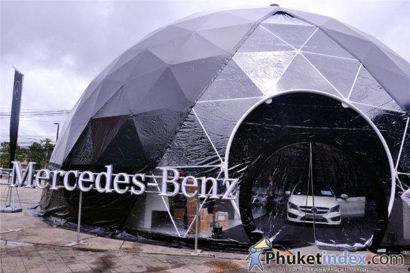 Mercedes benz present star dome central festival phuket for Mercedes benz dome