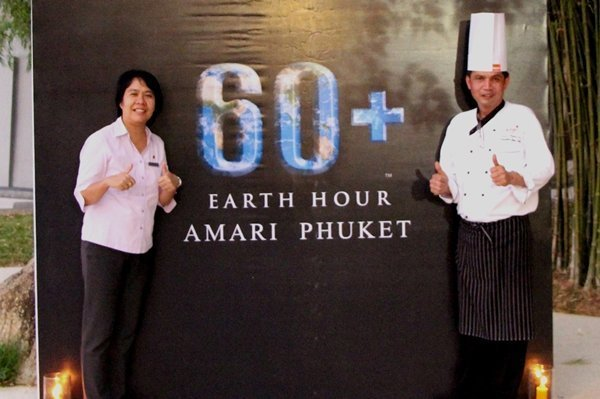 Amari Phuket takes part in Earth Hour 2014
