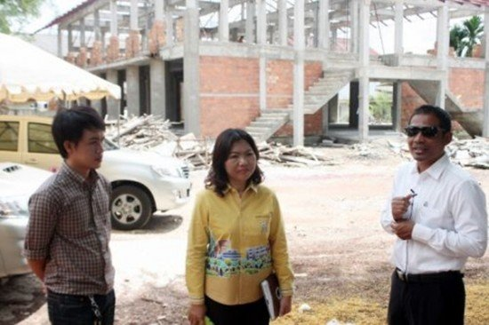 Phuket PAO inspects construction progress of Buddhist Ethics Learning Center