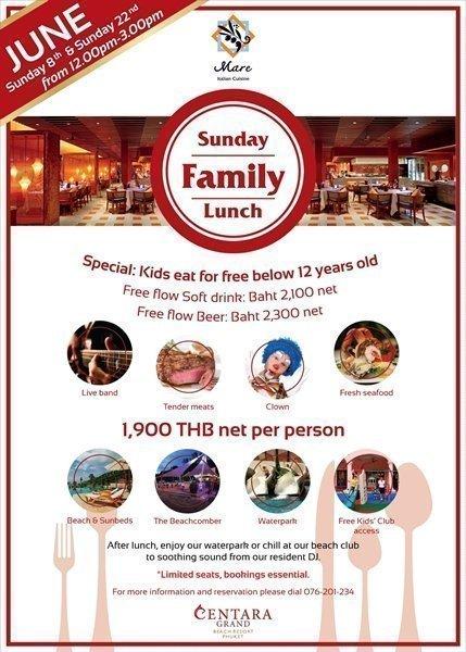 Sunday Family lunch at Centara Grand Beach Resort Phuket