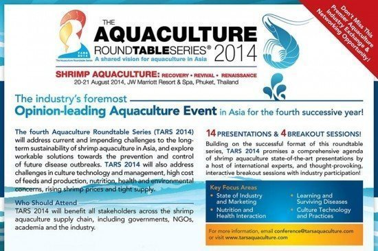 Aquaculture Roundtable Series (TARS 2014) to take place in Phuket