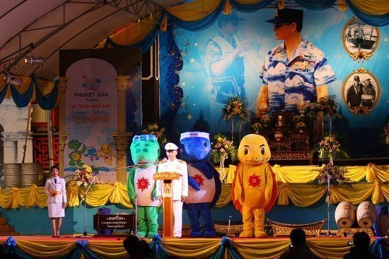 Asian Beach Games flame arrives in Phuket