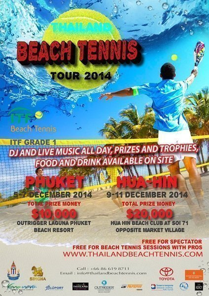 Outrigger Phuket to host Beach Tennis Tournament