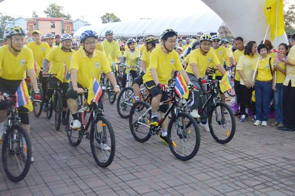 Phuket gets on its bikes for HM the King