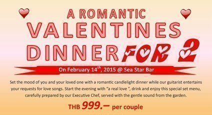 A Romantic Valentines Dinner @  Sea Star Bar, Kata Sea Breeze Resort