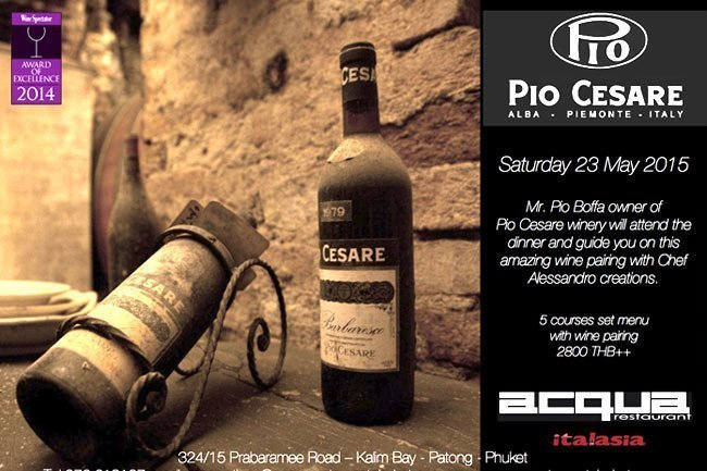 Pio Cesare Wine Dinner at Acqua Restaurant