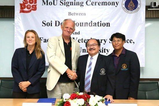 Soi Dog Foundation signs memorandum of understanding with Mahidol University