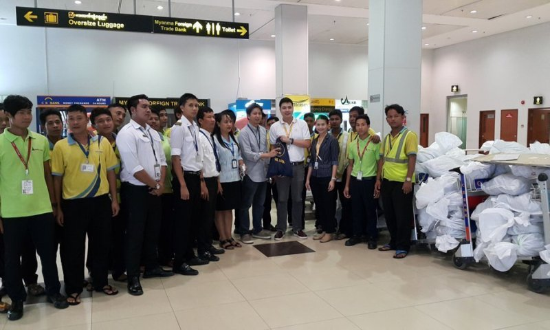 Nok Air Supports Flood Relief Efforts in Myanmar