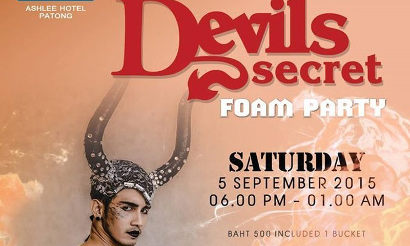 Devil's Secret Foam Party at Centra Ashlee Hotel Patong