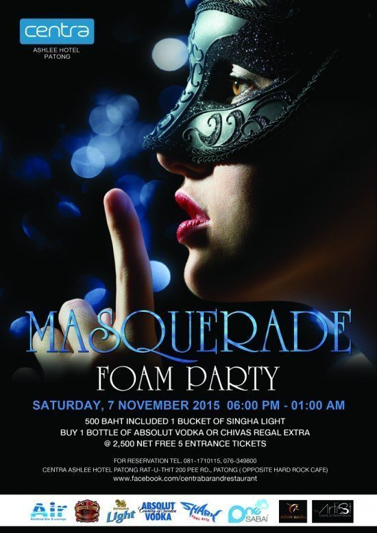 Masquerade Foam Party at Centra Ashlee Hotel Patong 01