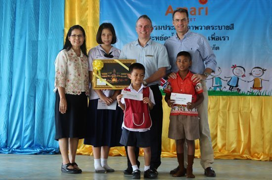 Amari Phuket organised a colouring competition at Baan Kalim School