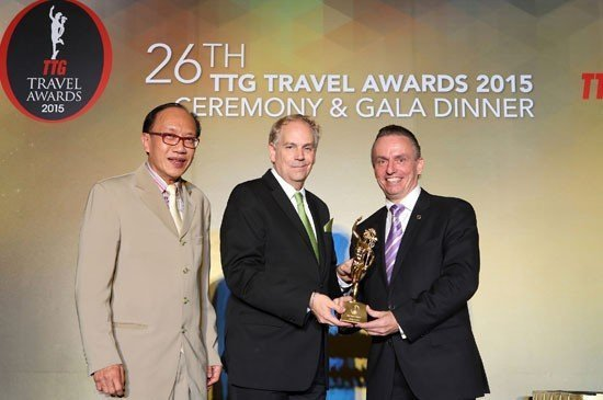 From left to right: Michael Chow – Group Publisher of TTG Travel Trade Publisher, Mario Hardy – CEO of PATA and Pierre-Andre Pelletier – Vice President, Area General Manager South Thailand and General Manager of Amari Phuket