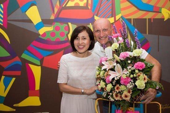 Ms. Anoma Vongyai of TAT Phuket with Mr. Ilias Vamvakas, the G.M.