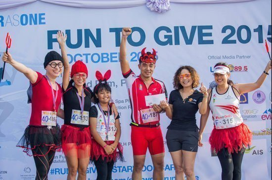 "Charity run event of the year ""Run To Give"", hosted by Starwood Phuket"