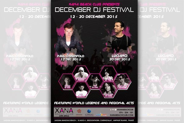 XANA Beach Club Presents December DJ Festival