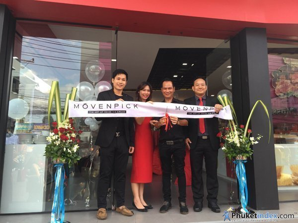 Grand Opening 2nd Mövenpick Ice Cream Boutique in Phuket at Amata Patong