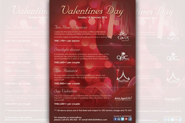 Valentines Day at Hilton Phuket Arcadia Resort & Spa
