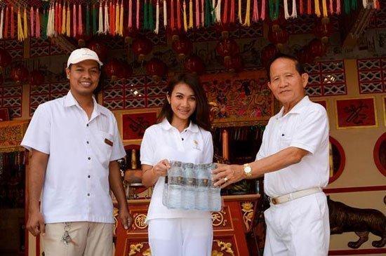 Donated drinking waterto Chinese Shrines in Phuket