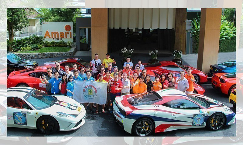 """Ferrari"", one of the fastest vehicles, visits Amari Phuket"