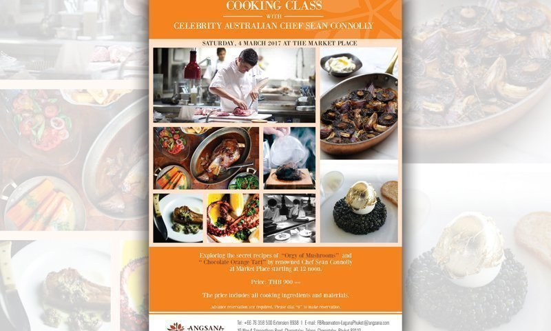 Cooking class with Celebrity Chef from Australia 'Sean Connolly'