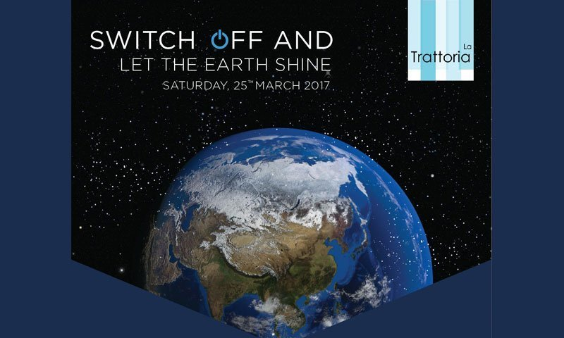 SWITCH OFF AND LET THE EARTH SHINE