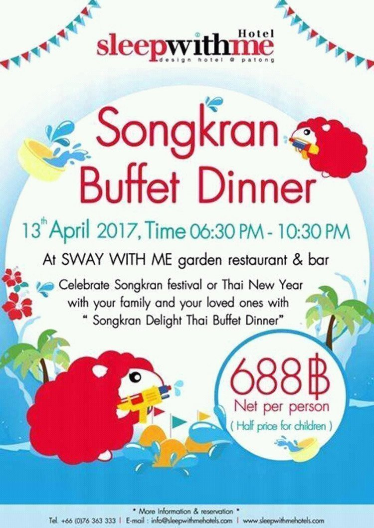 Songkran Buffet Dinner @SLEEP WITH ME HOTEL