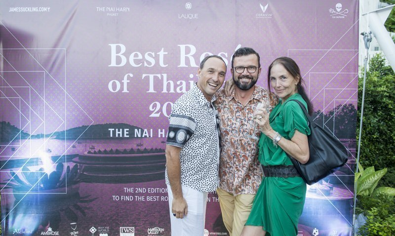The Nai Harn Phuket hosts Global Wine Critic James Suckling for second edition of Best Rose' for Thailand