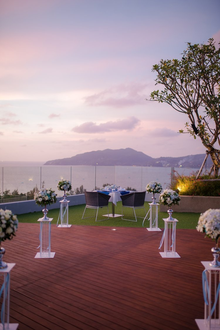 """Bride and Groom"" have selected the luxury Crest Resort and Pool Villas"