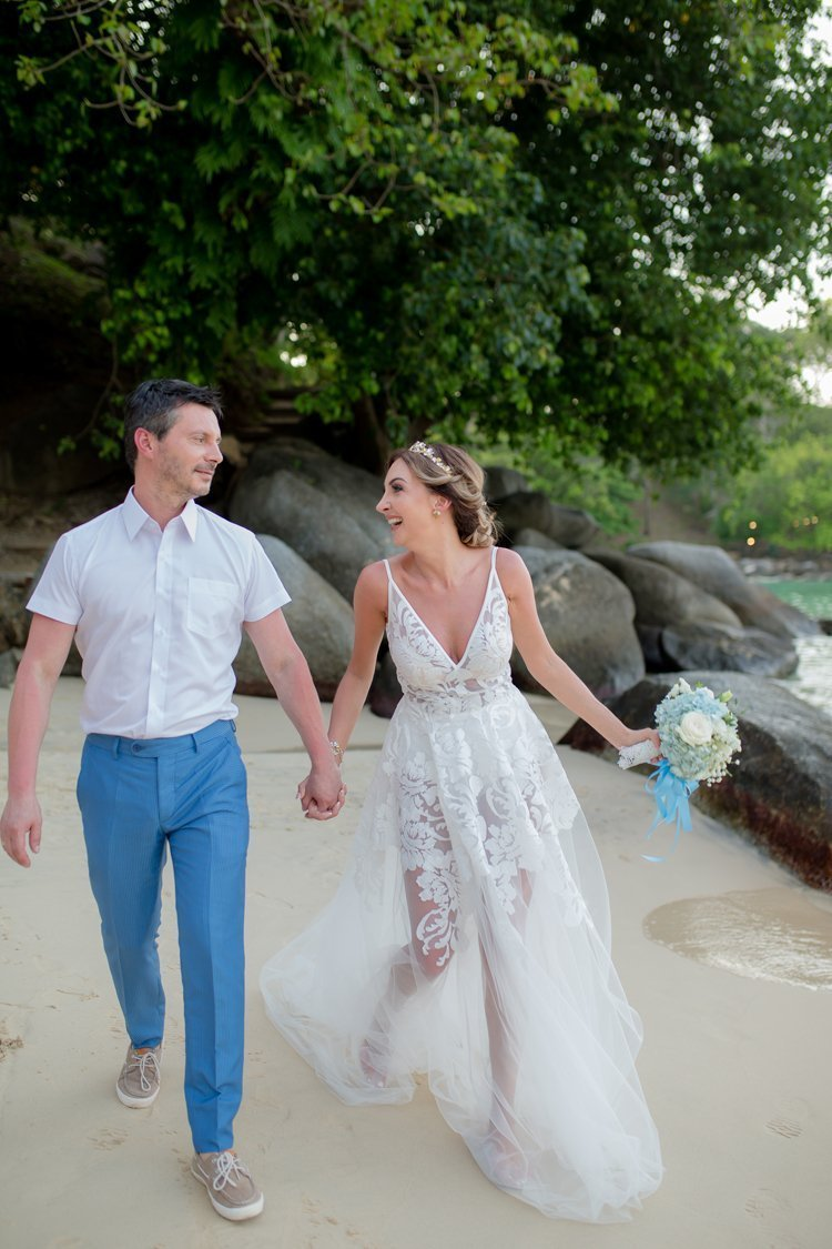 """""""Bride and Groom"""" have selected the luxury Crest Resort and Pool Villas"""
