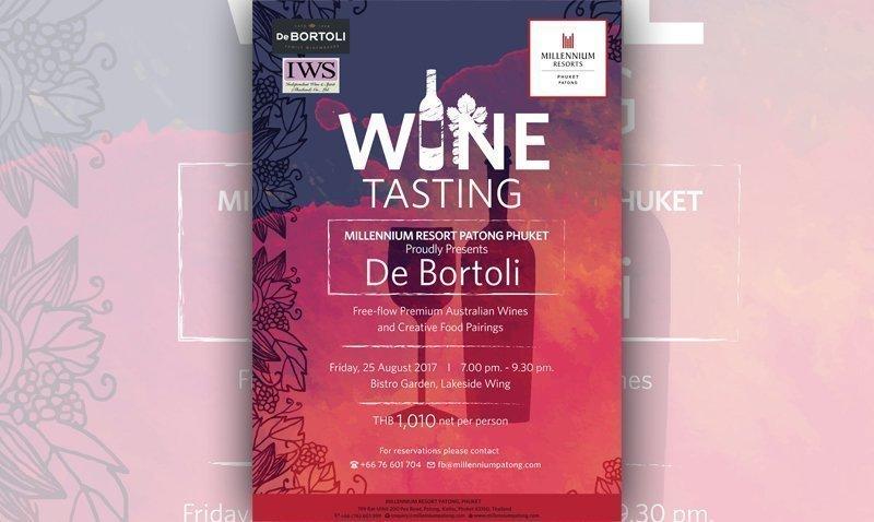 Millennium Resort Patong Phuket Proudly presents De Bortoli
