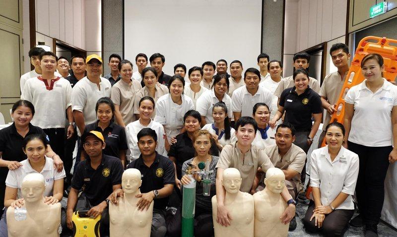 Phuket Marriott Resort and Spa, Nai Yang Beach, Hosts First Aid Training Class