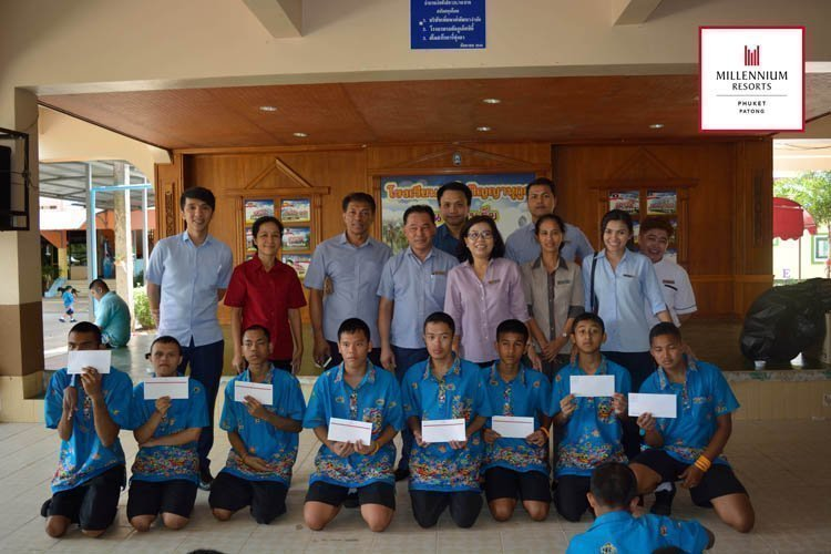 Millennium Resort Patong Phuket hosted lunch for children at the Phuket Panyanukul