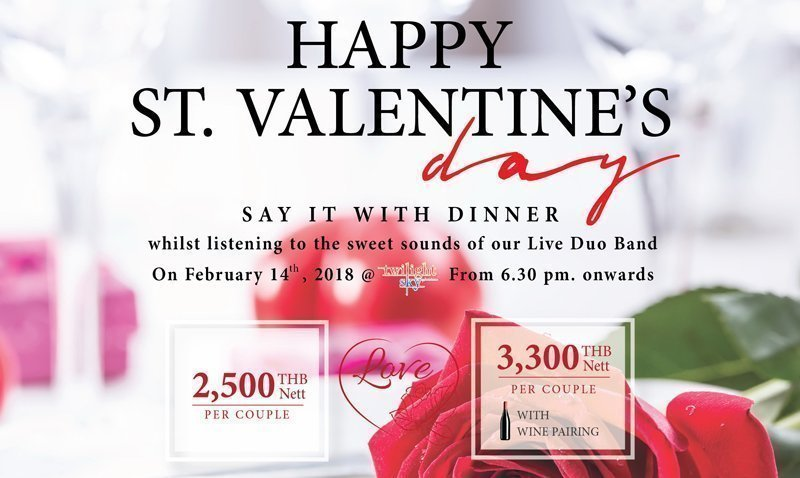 Celebrate your St. Valentine's Day with a romantic panoramic view of Kata Beach at Twilight Sky, The SIS Kata