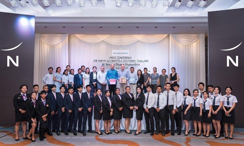 """Press conference for """"AccorHotels Job Fair 2018"""" at Novotel Phuket Phokeethra"""