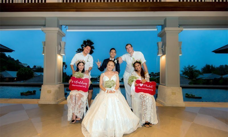 "Phuket Marriott Resort and Spa, Nai Yang Beach Hosts Three Ceremonies for Winners of ""Dream Wedding"" Contest!"