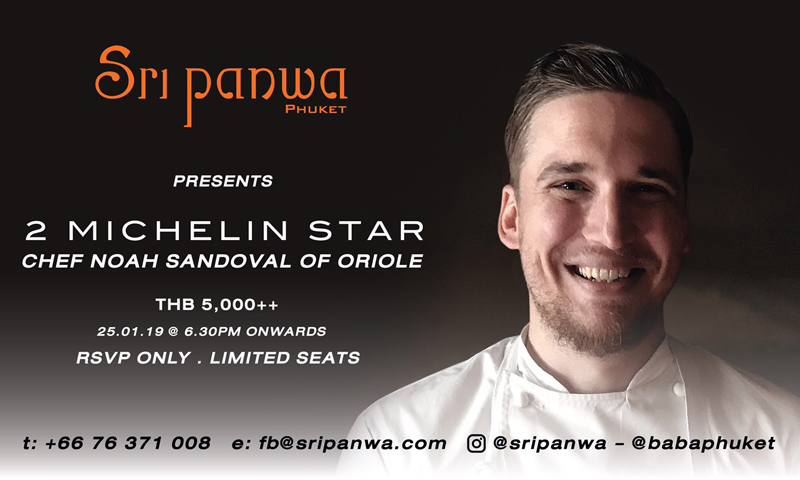 Sri panwa To Host Two-Michelin-Starred Chef Pop-Up Experience  by Chef Noah Sandoval of Oriole, Chicago